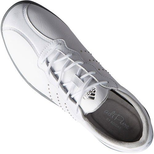 huge selection of b73ec f6a13 Image of adidas Womens adipure DC Golf Shoes showing the clean, classic  look with waterproof uppers and spiked traction.