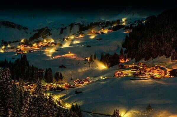 Austria at night