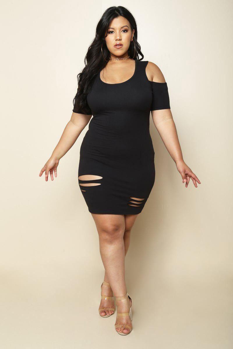 Black plus size mini party dress mini dress party plus