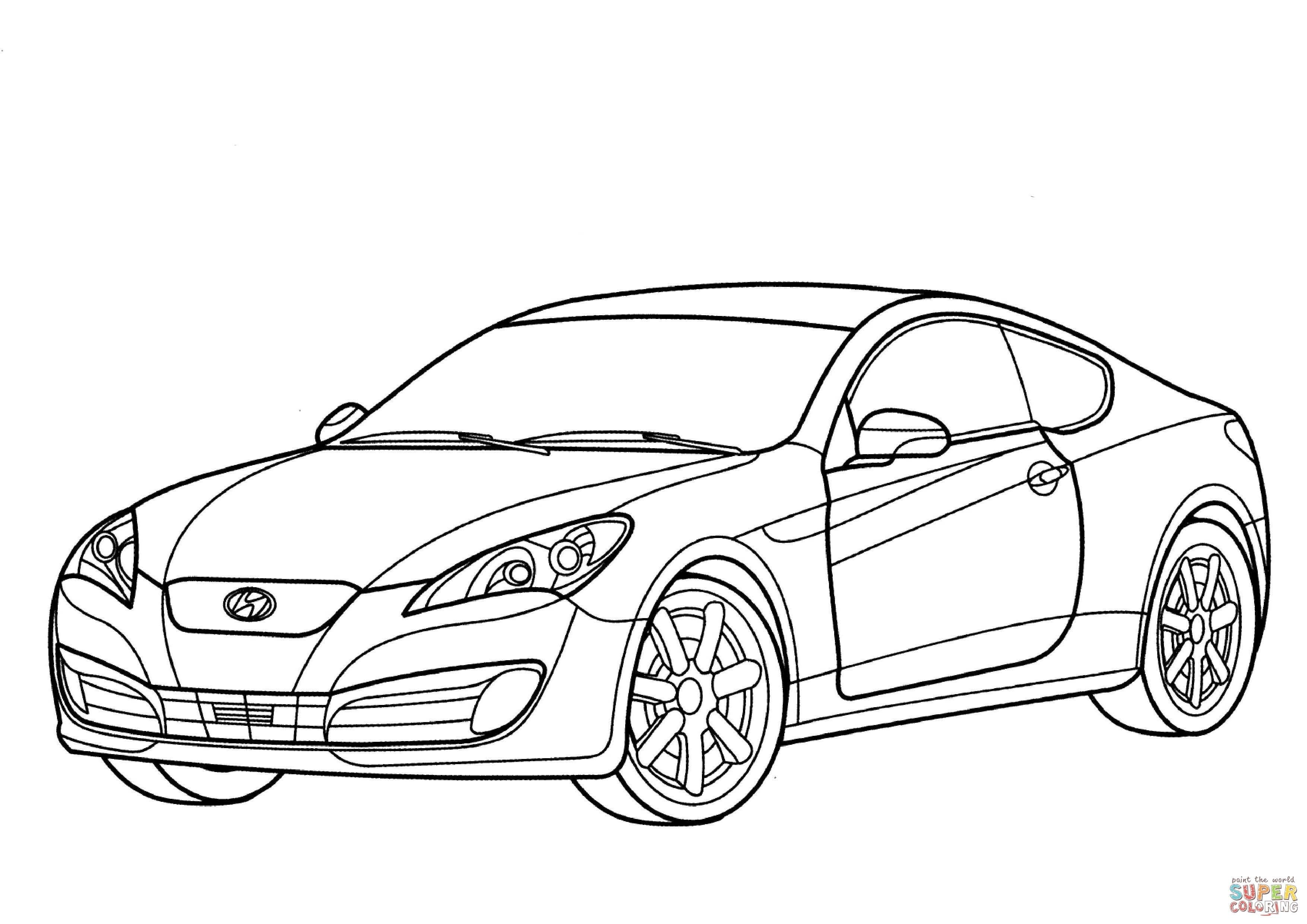 Hyundai Tiburon Coupe Coloring Pages Download