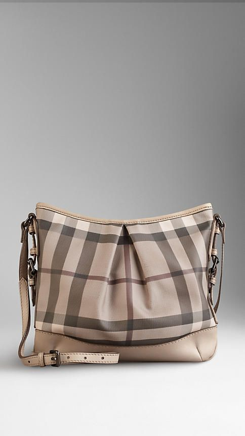 2978c8864fd7 Medium Smoked Check Crossbody Bag