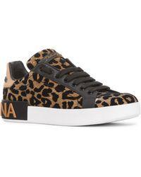 d58ecf8462 Dolce & Gabbana - Leopard Lace-up Sneaker - Lyst | Sneak Peeps in ...