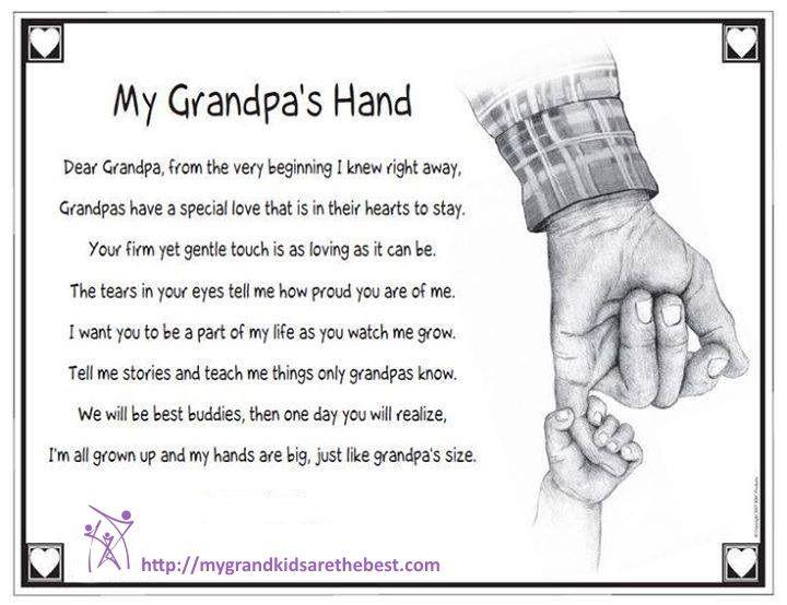 A grandpa's hand  | I Love My Grandchildren | Grandparents