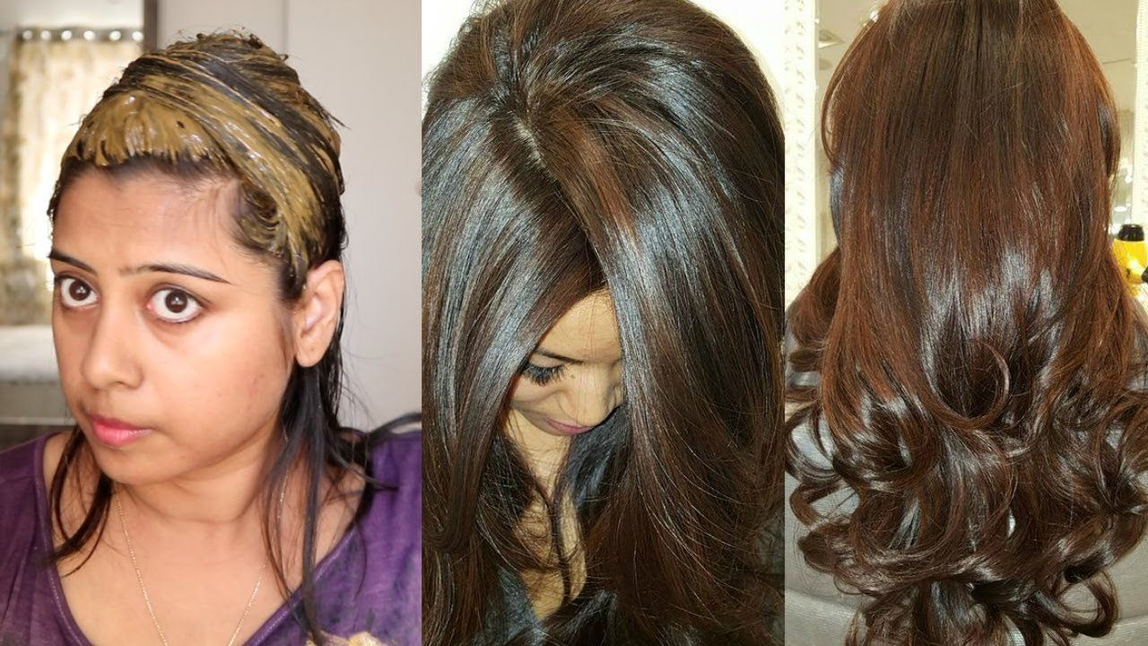 Colour your hair chocolate brown naturally at home