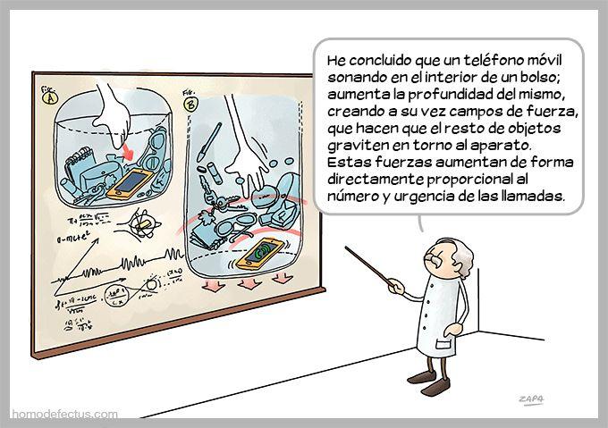 El teléfono y el bolso. Artista: Zapa. Pineado de: http://www.homodefectus.com/2014/01/27/el-telefono-y-el-bolso/