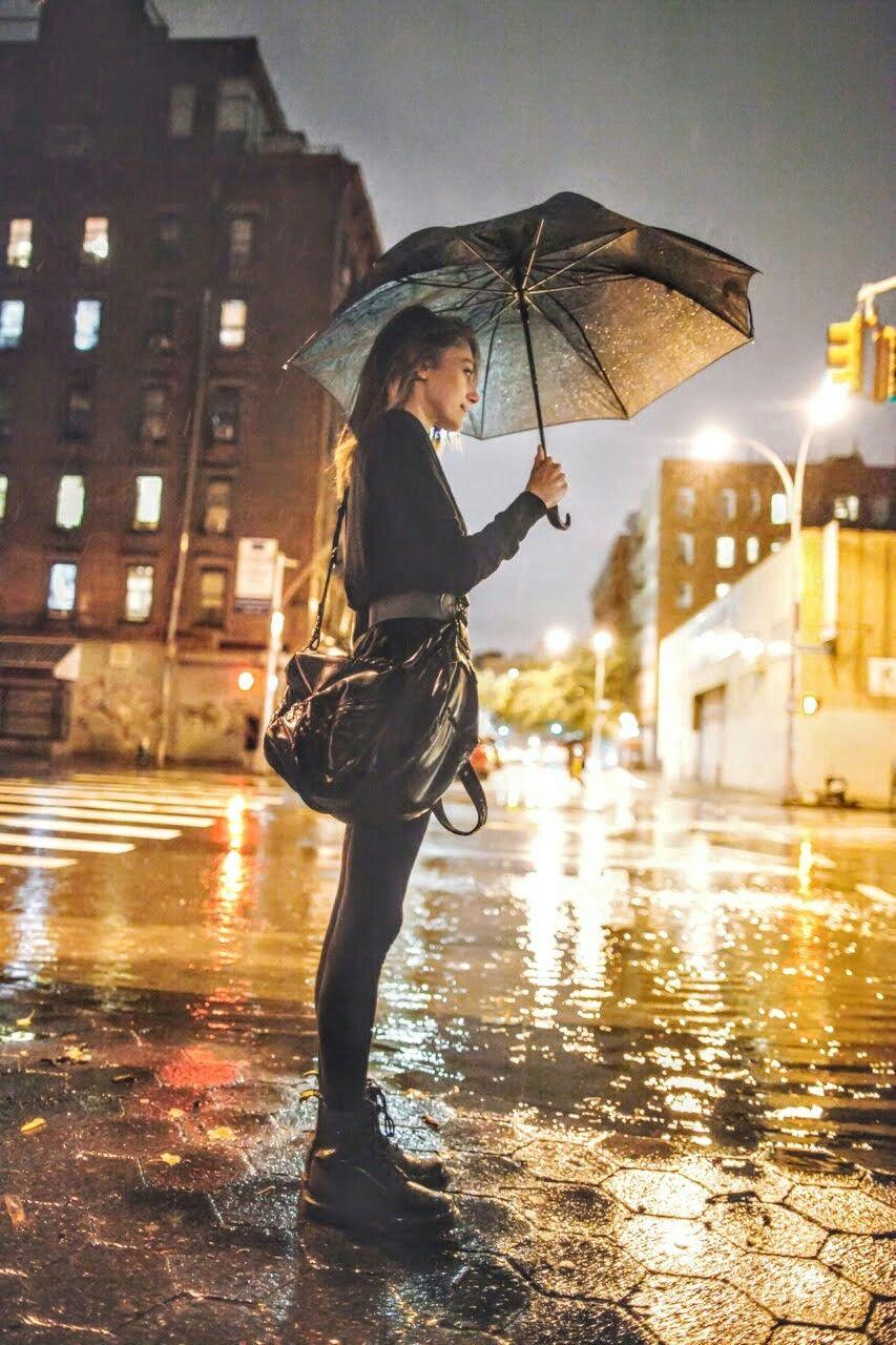 Фотосессии в дождь одному