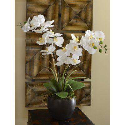 floral home decor orchid floral design wayfair.htm floral home decor silk orchid design in bowl orchid arrangements  floral home decor silk orchid design in