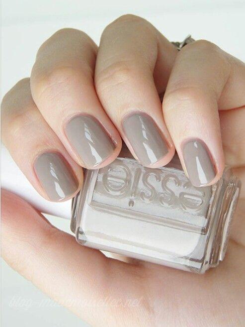Nude grey mani. | Nails | Pinterest | Esmaltes essie, Essie y Esmalte