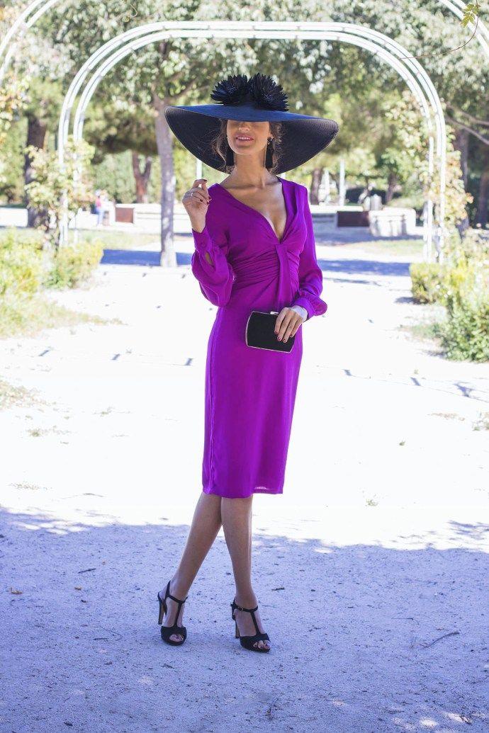 Look invitada boda dia mañana vestido buganvilla pamela | Fiestas ...