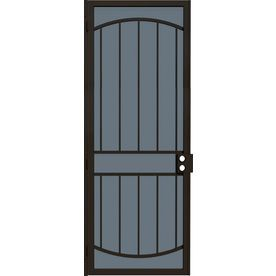 Gatehouse Gibraltar Bronze Steel Security Door Common 36 In X 96 In Actual 39 In X 97 75 In Security Door Steel Security Doors Black Steel