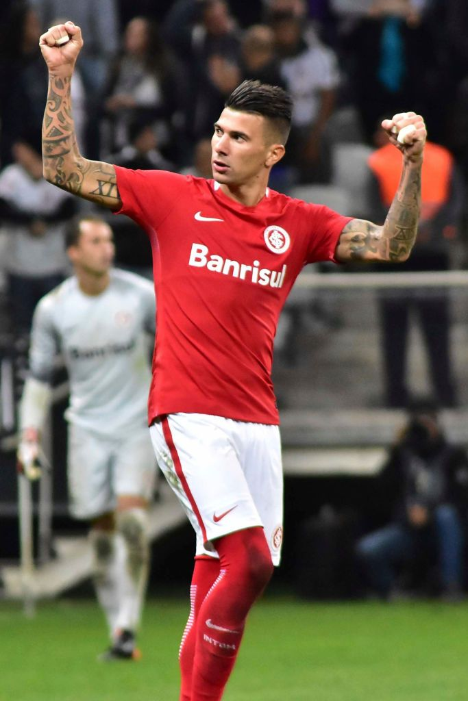 Sao Paulo Brazil April 19 Victor Cuesta Of Internacional Celebrates After Scoring Internacional Futebol Clube Futebol Internacional Jogadores Internacional