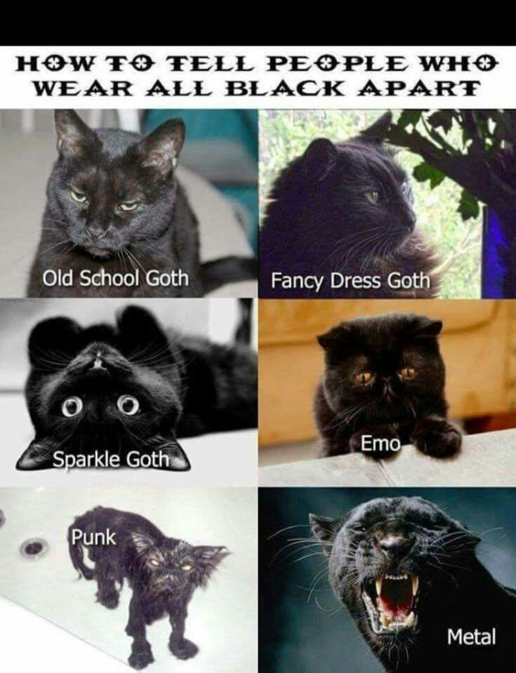 How to tell people who wear all black apart