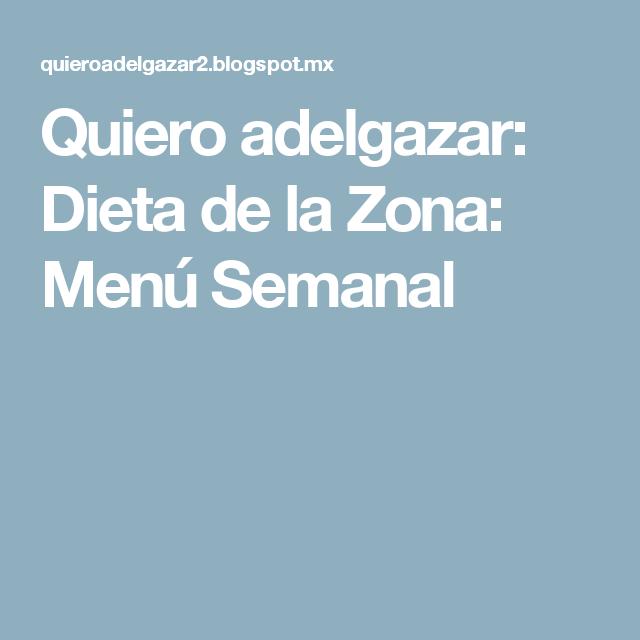 dieta de la zona menu pdf