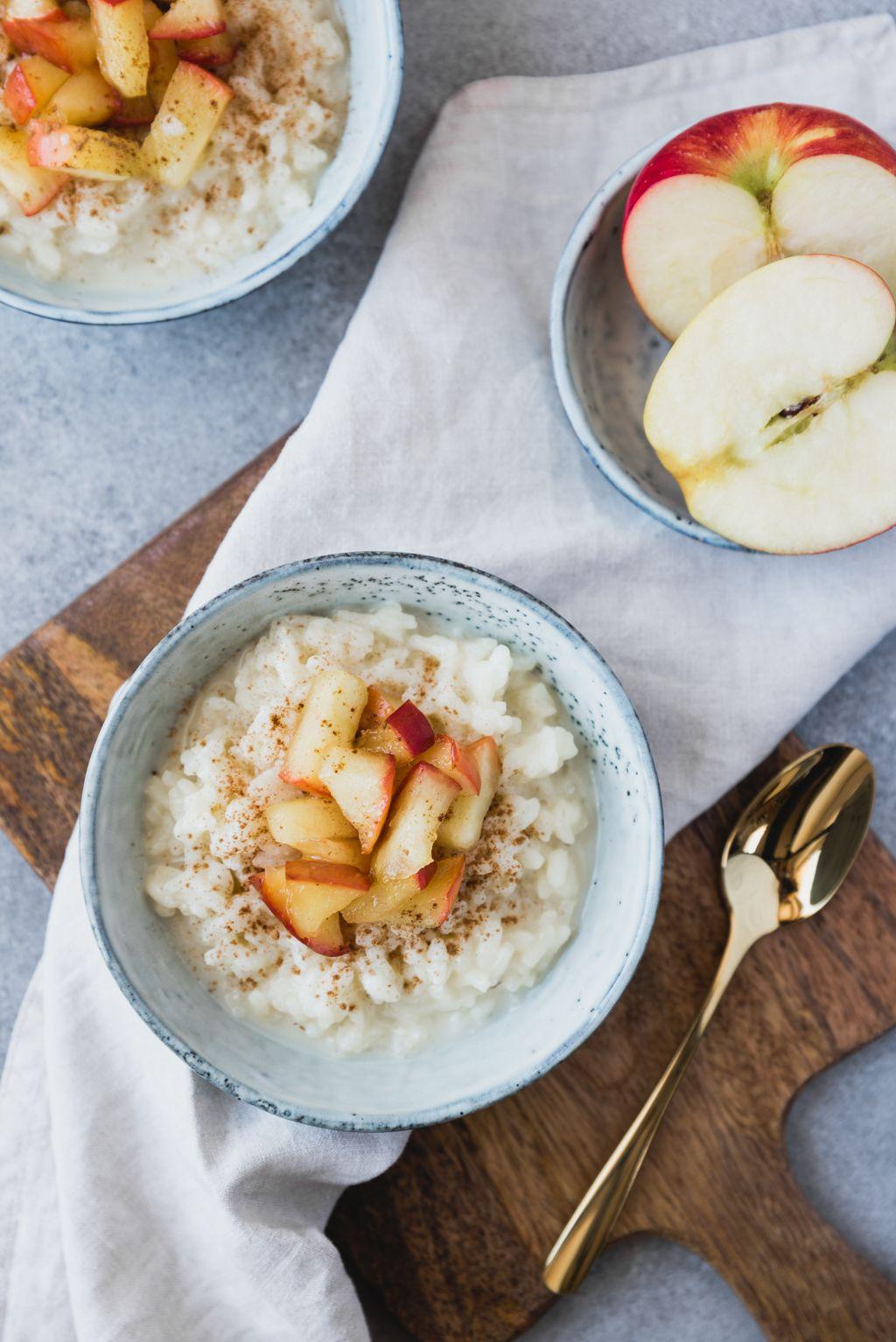 Milchreis Mit Karamellisierten Apfeln Und Zimt Rezept Milchreis Kochen Gesunde Rezepte Und Lebensmittel Essen