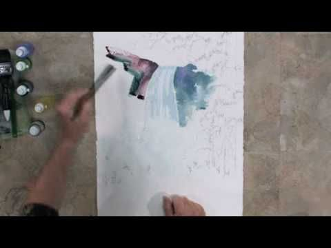 Free Art Lesson - Tom Jones - Waterfall
