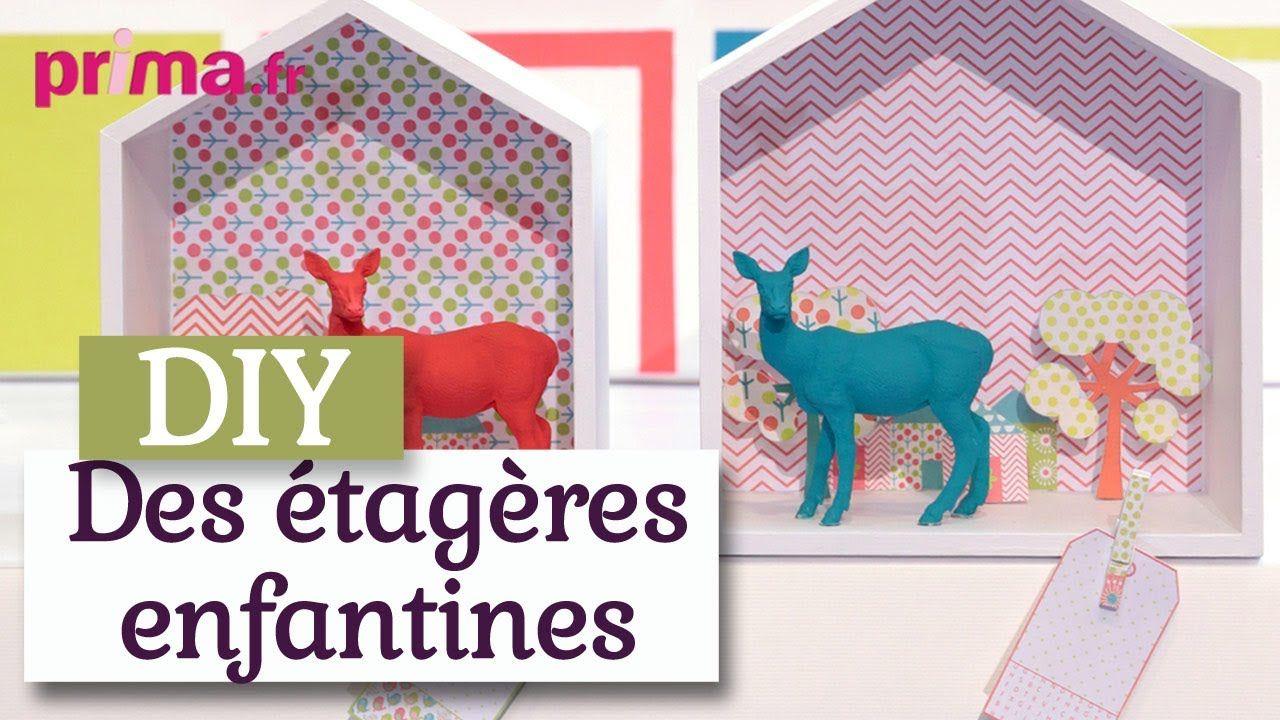 DIY Des étagères maison pour une chambre d\'enfant - DIY déco   DIY ...