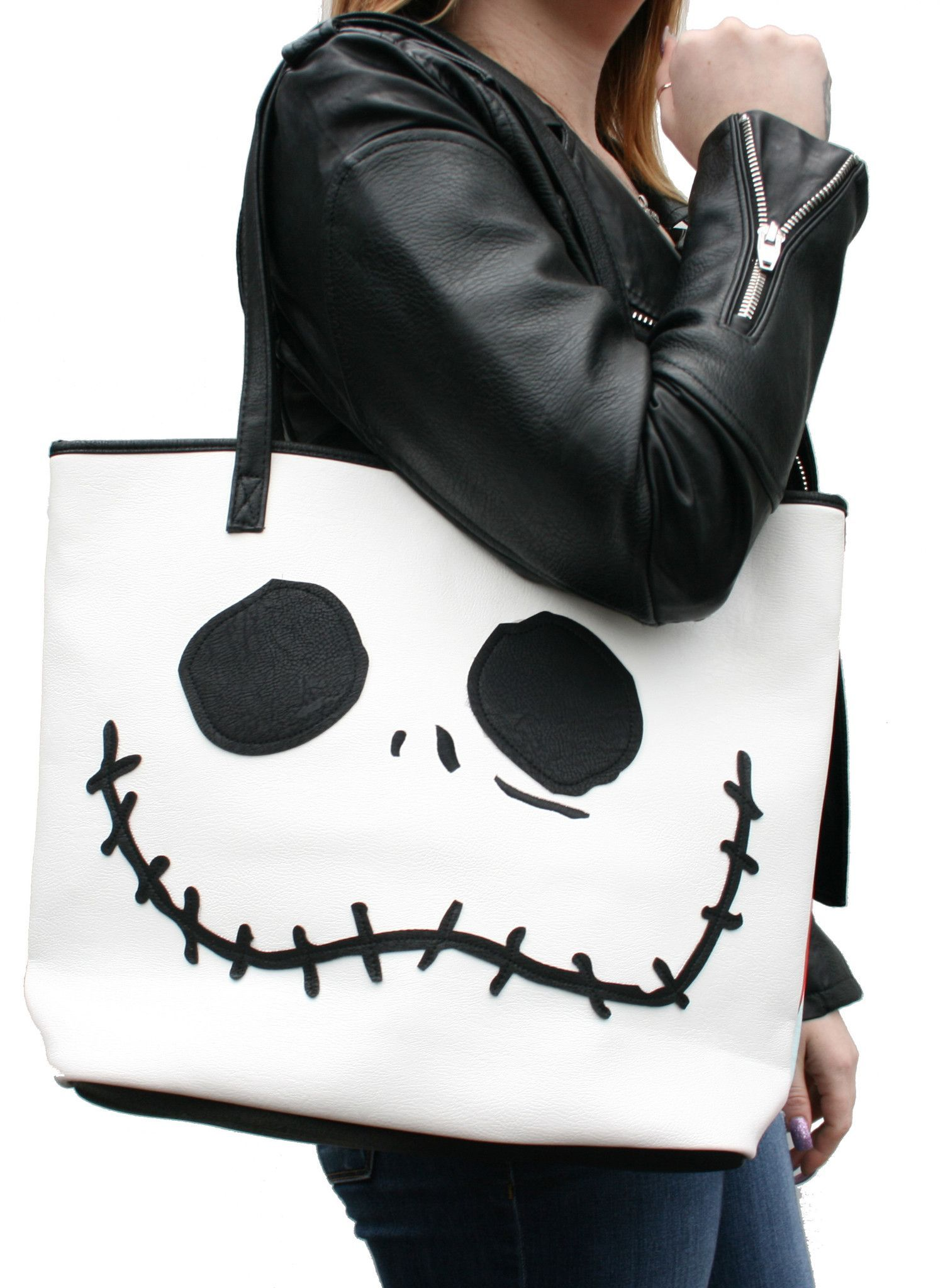 Loungefly Nightmare Before Christmas Jack & Sally Faces Tote Bag ...