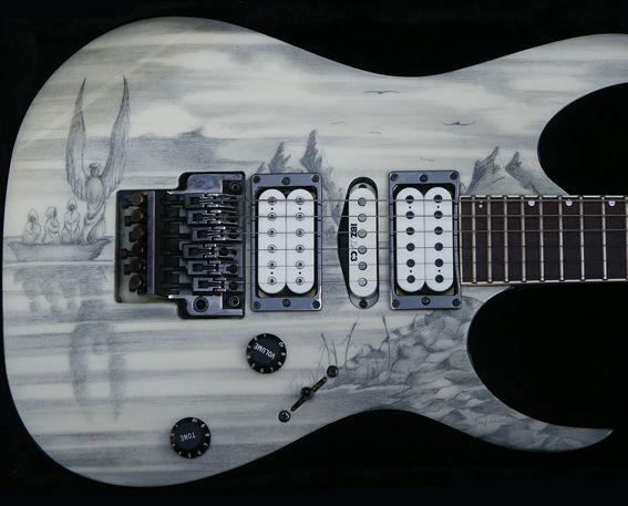 ibanez rg angels depart in 2019 heavy metal guitar cool guitar ibanez. Black Bedroom Furniture Sets. Home Design Ideas