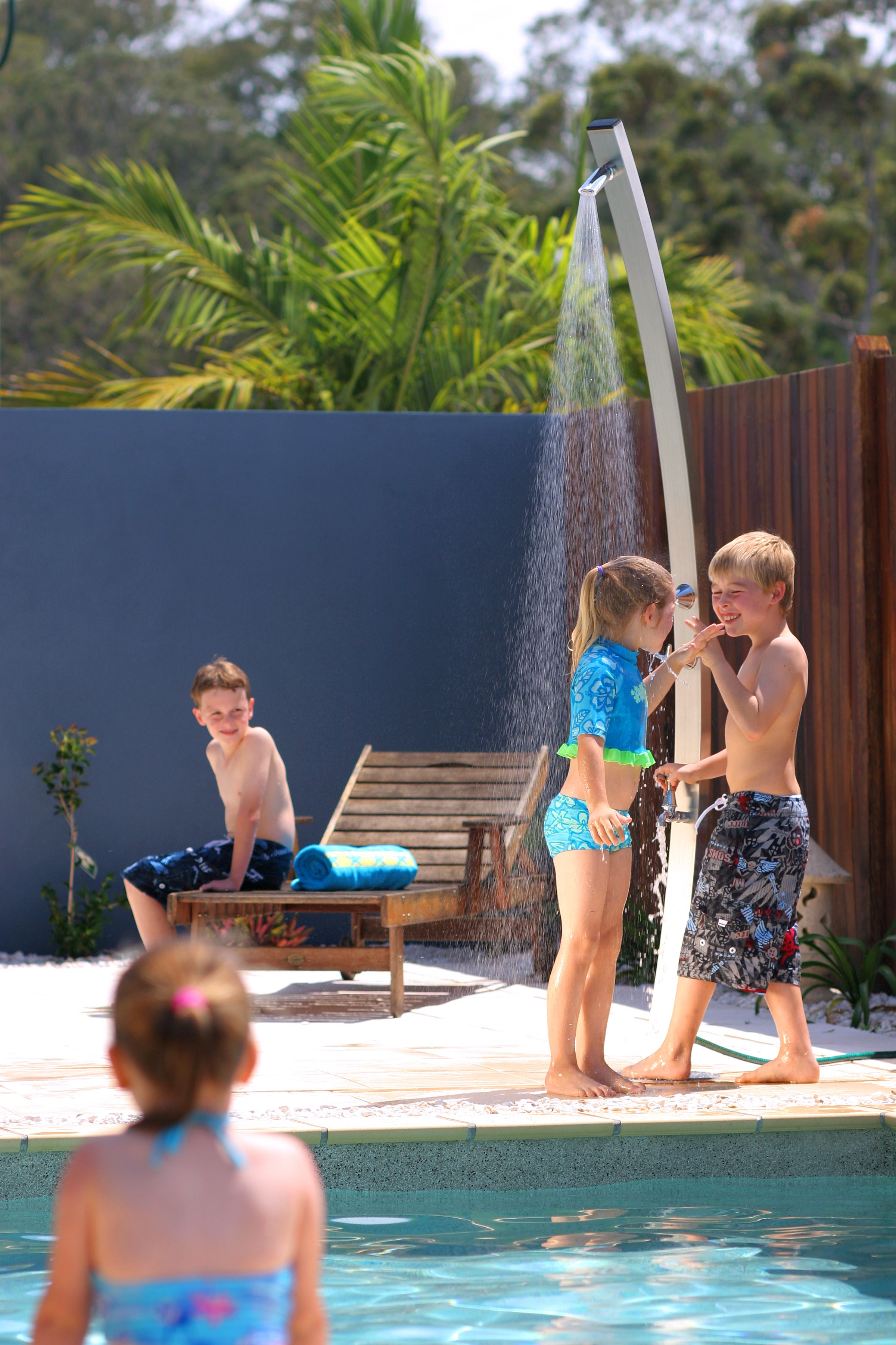 Rainware Outdoor Showers provide summer fun for the whole family ...