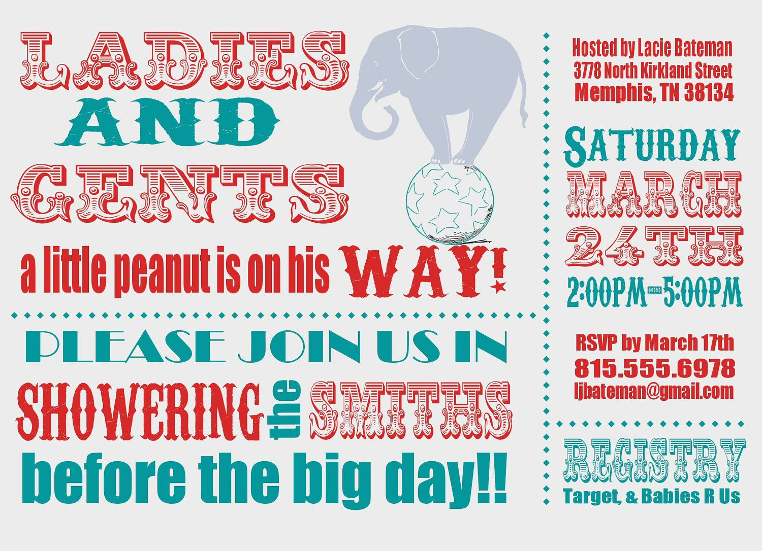 Coolnew Circus Baby Shower Invitations Ideas Check More At Http Www Nataliesinvitation 4321