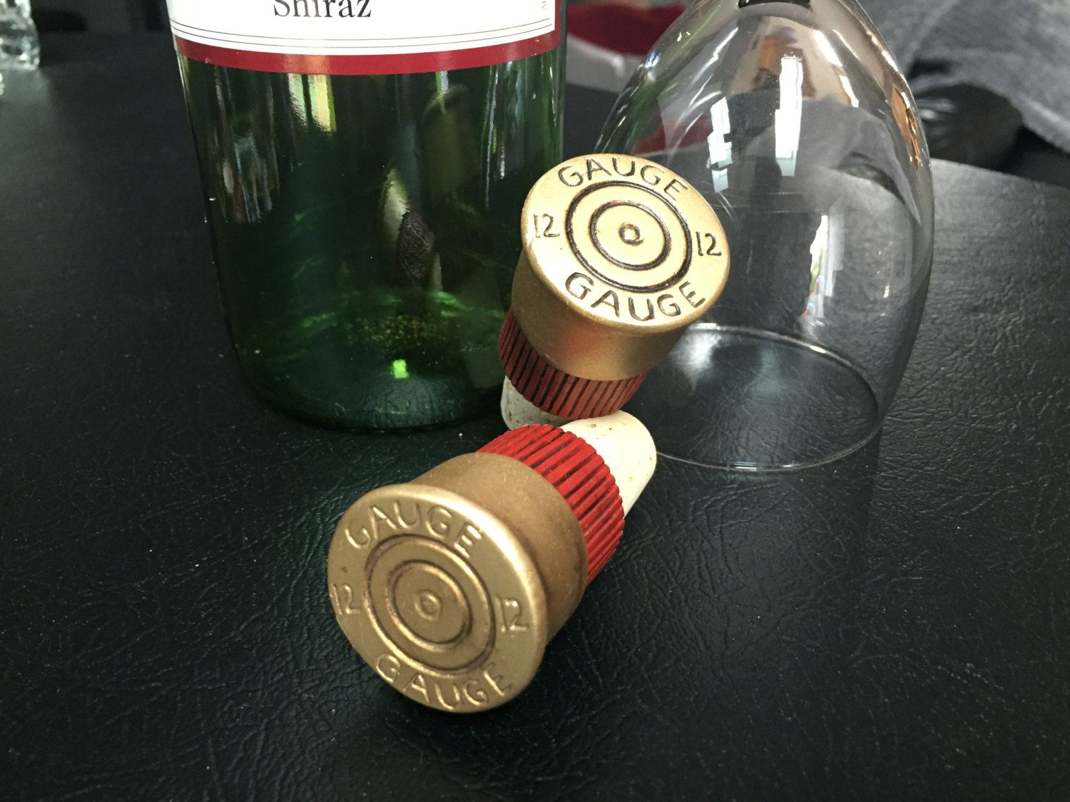 Repurposed Resin Cabinet Knob Wine Bottle Stopper - 12 Gauge ...