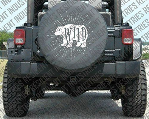 Jeep Spare Tire Cover Bear Wild Adventure Badge Jeep Wrangler Jk