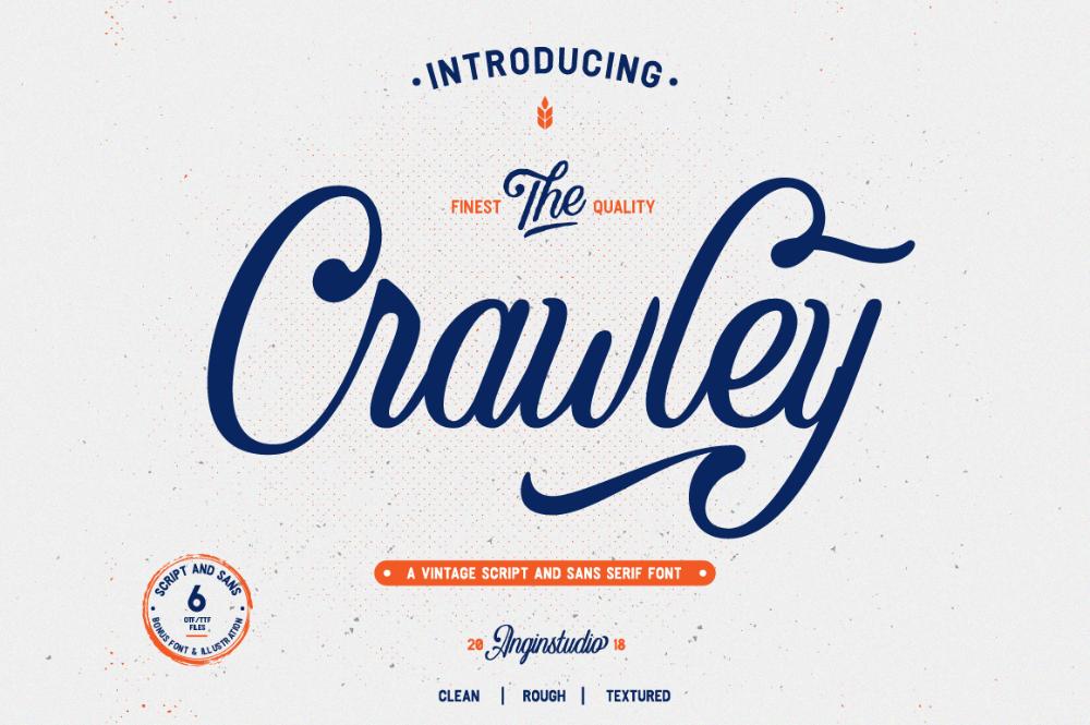 The Crawley Script Font (FREE Demo Version) on Behance