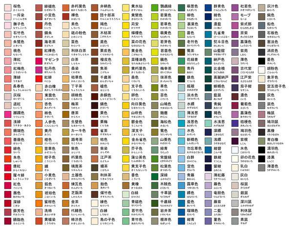 これであなたも和風イラストが描ける!和の色パレット - How to draw ...