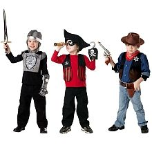 True Heroes - 3-in-1 Kit Adventure Costume Set - Pirate, Knight & Cowboy--charlie xmas