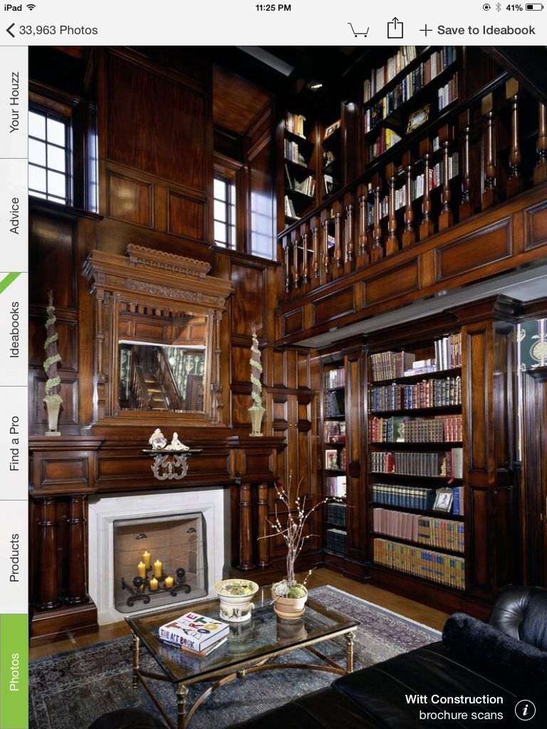 Home library   Cozy home library, Home library design, Home libraries
