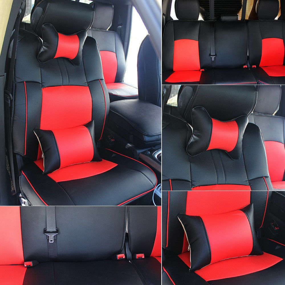 Astounding Ad Ebay Car Seat Cover Front Rear Cushion Pu Leather For Ocoug Best Dining Table And Chair Ideas Images Ocougorg