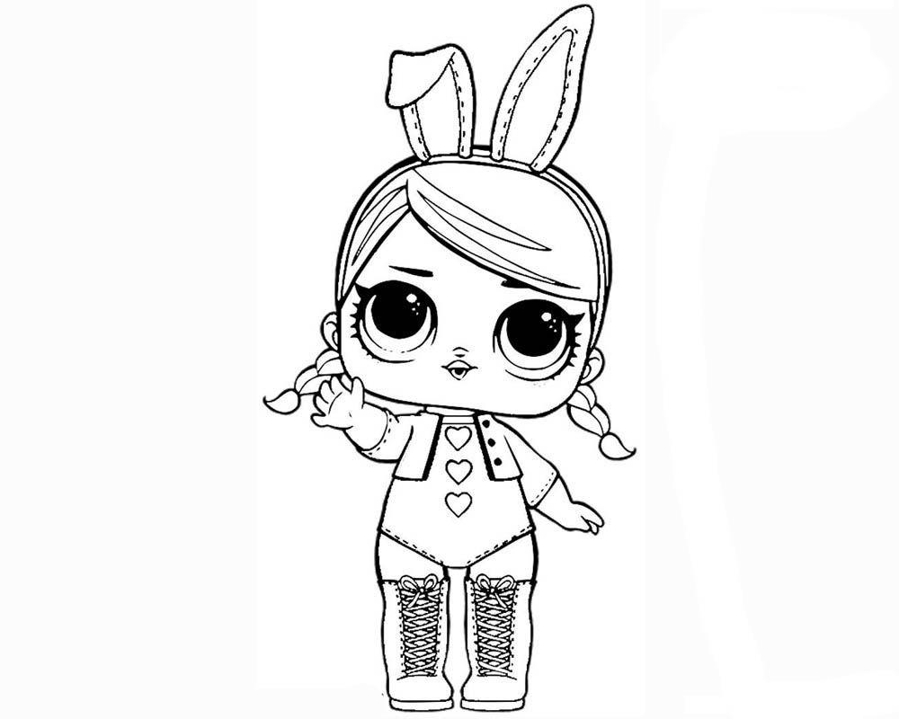Раскраски Кукла Лол - детские раскраски распечать ...
