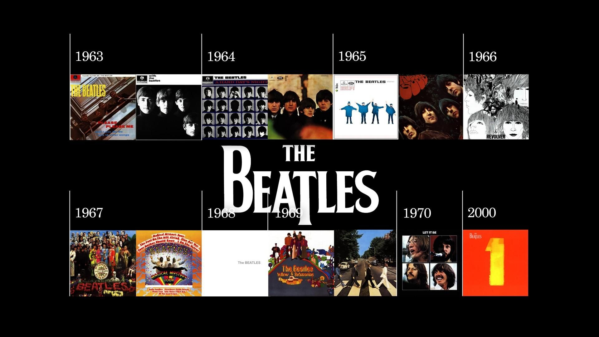 Music The Beatles Discography Wallpaper 1920x1080px
