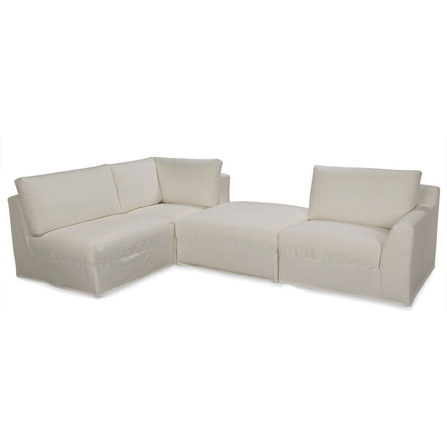 Etonnant Lee Industries Bermuda 4 Piece Sectional   US127 08 / US127 06 / US127 10 /  US127 04RF