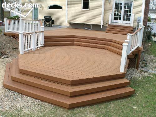 Geometric Deck Design Deck Steps Deck Stairs Multi Level Deck