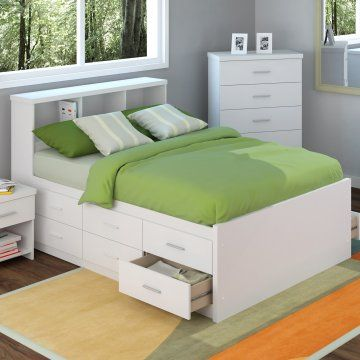 Sonax Willow Full Double Captains Storage Bed With 12 Drawers