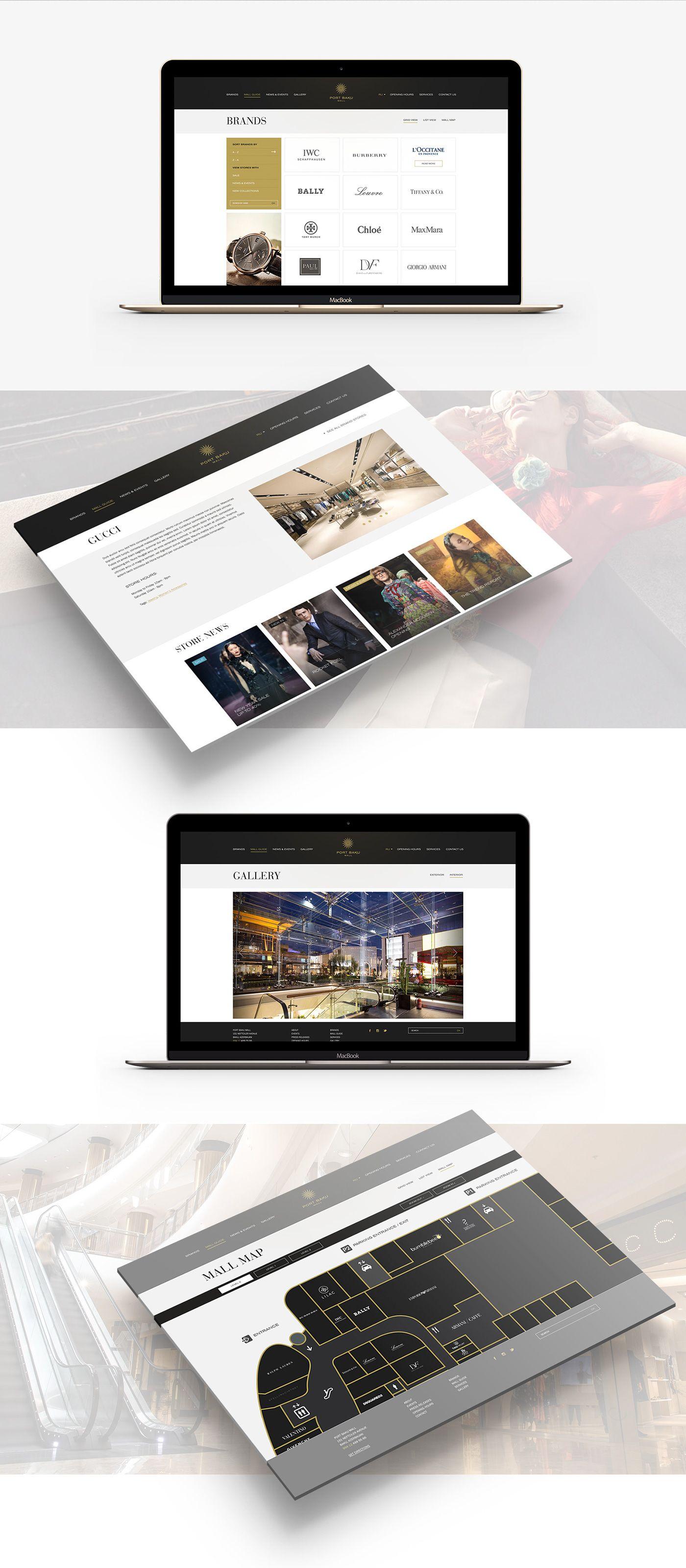Website For Luxury Shopping Mall In Baku Azerbaijan Mall Website Design Website