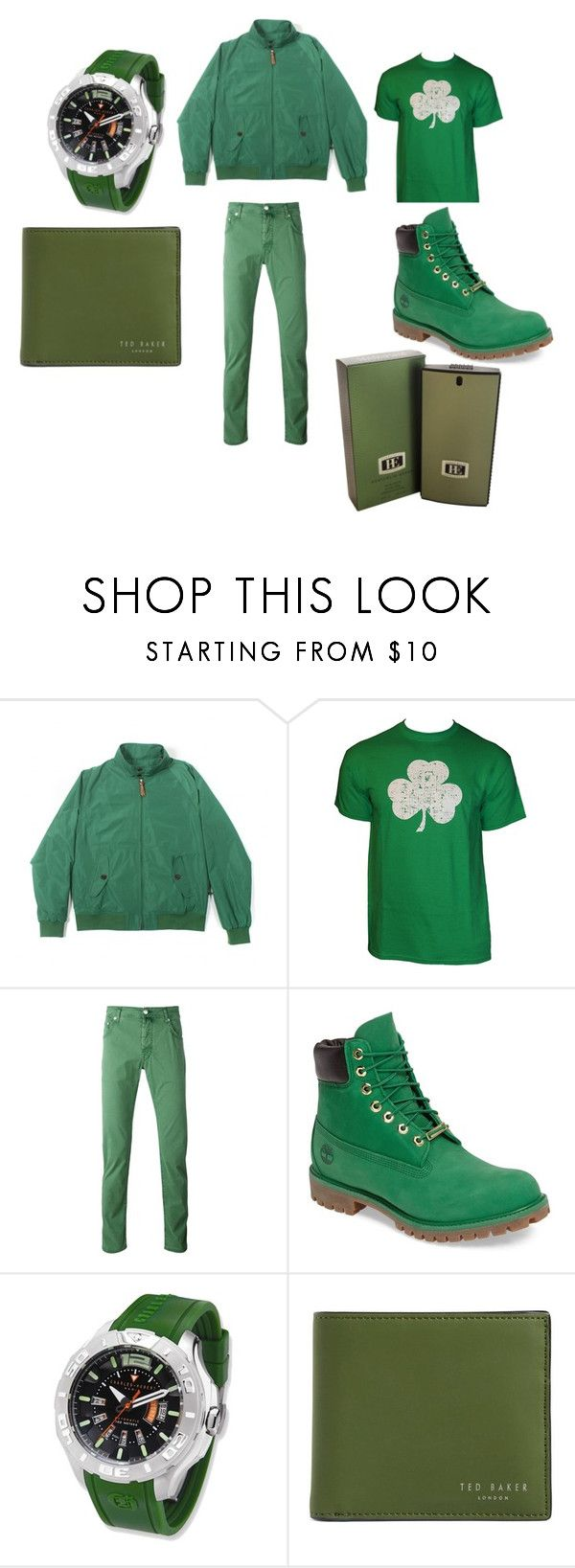 """""""Staints Patricks"""" by aandre-va on Polyvore featuring tuktuk, Jacob Cohёn, Timberland, Charles Hubert, Ted Baker, Perry Ellis, men's fashion and menswear"""