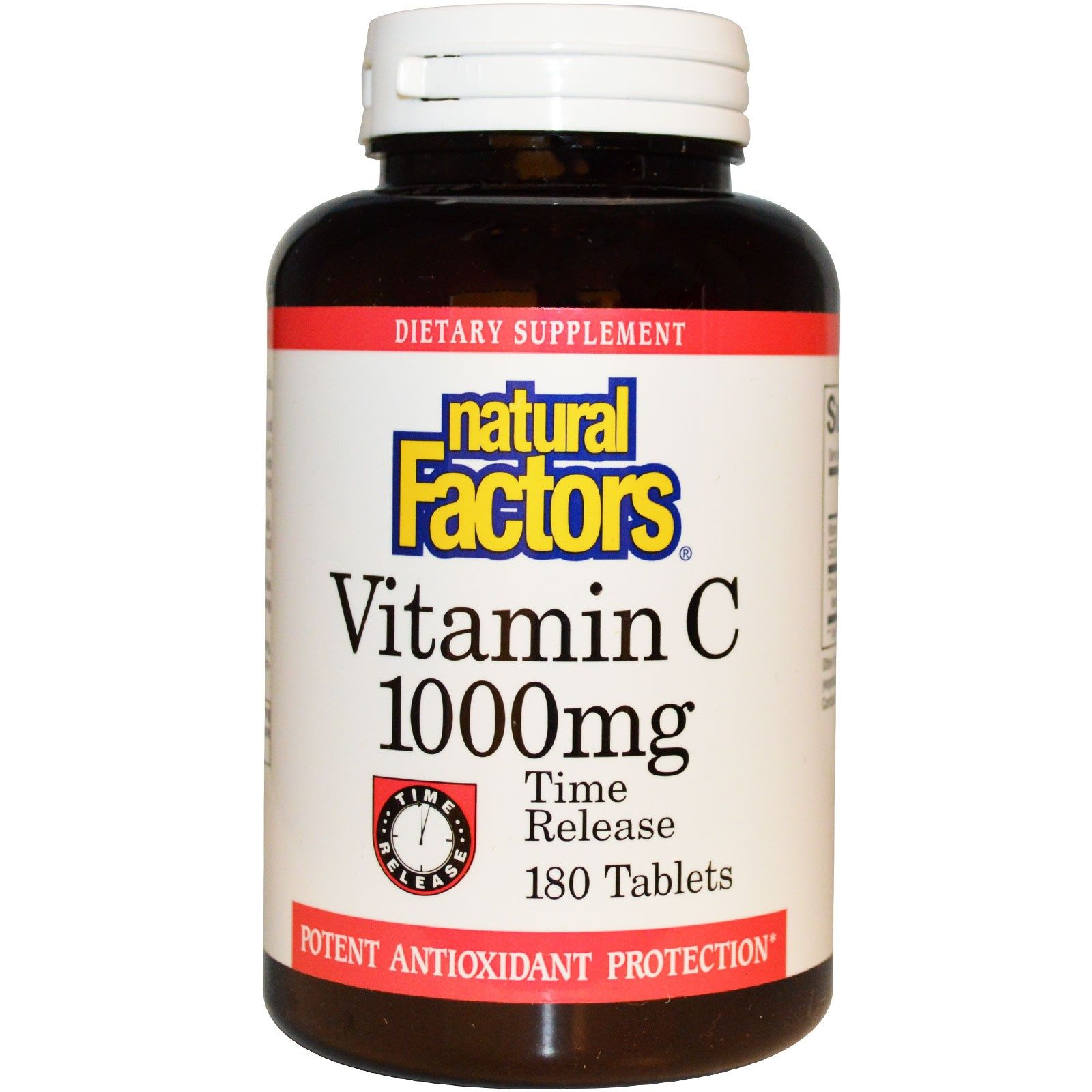 Natural Factors, Vitamin C, Time Release, 1,000 mg, 180