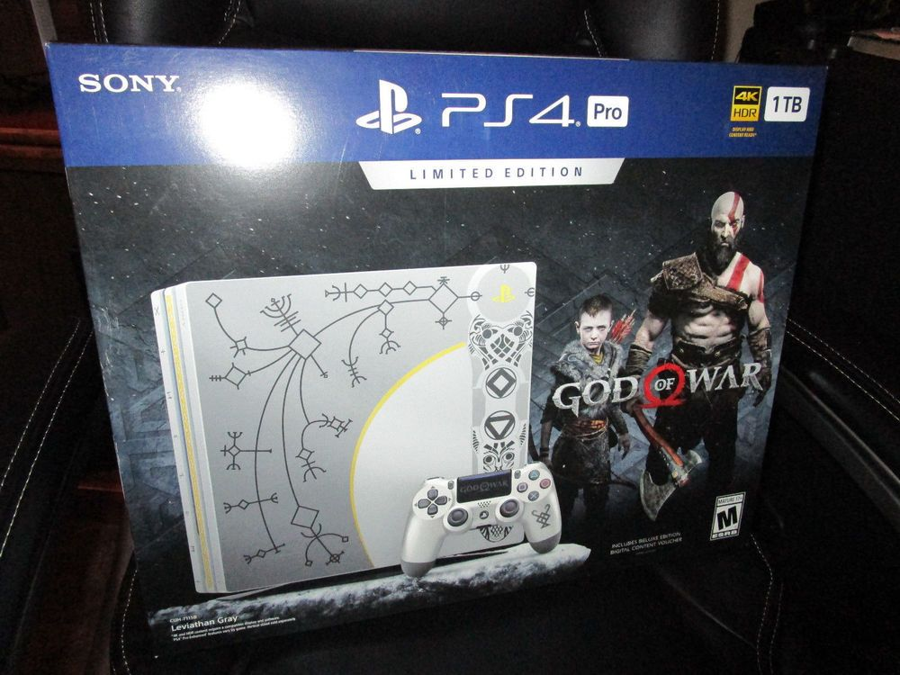 Sony Playstation 4 Pro 1tb Limited Edition Console God Of