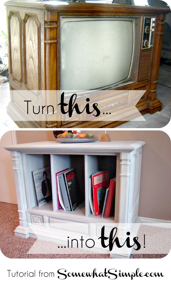 Old Tv Transformation With Home Hinges