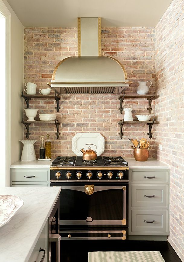La Cornue Kitchen Designs Painting Best Kitchen With Brick Wall And La Cornue Stove Designedjenny . Decorating Inspiration