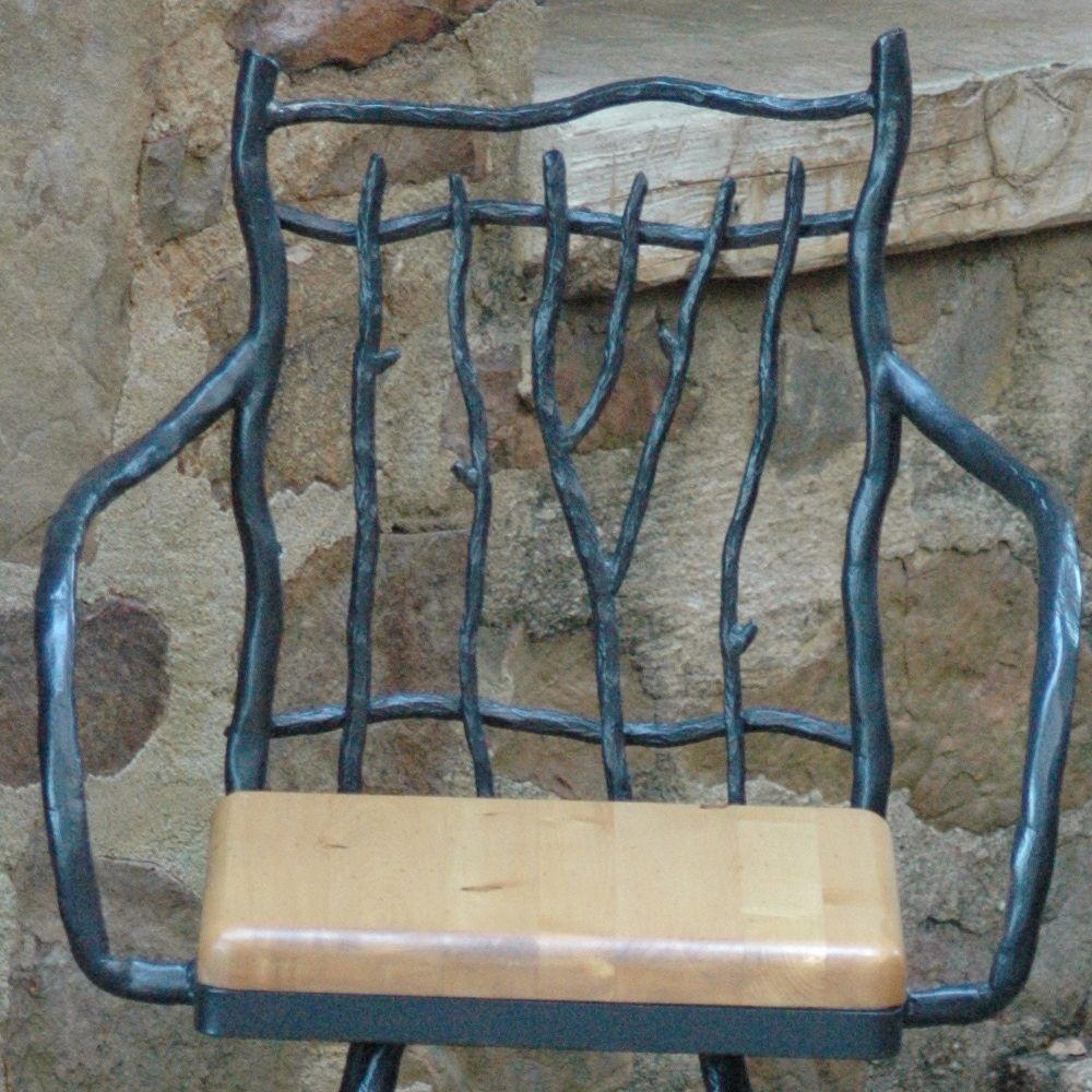 South Fork Wrought Iron Counter Stool by Mathews & Company ...