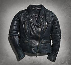 Overdyed Goatskin Leather Jacket