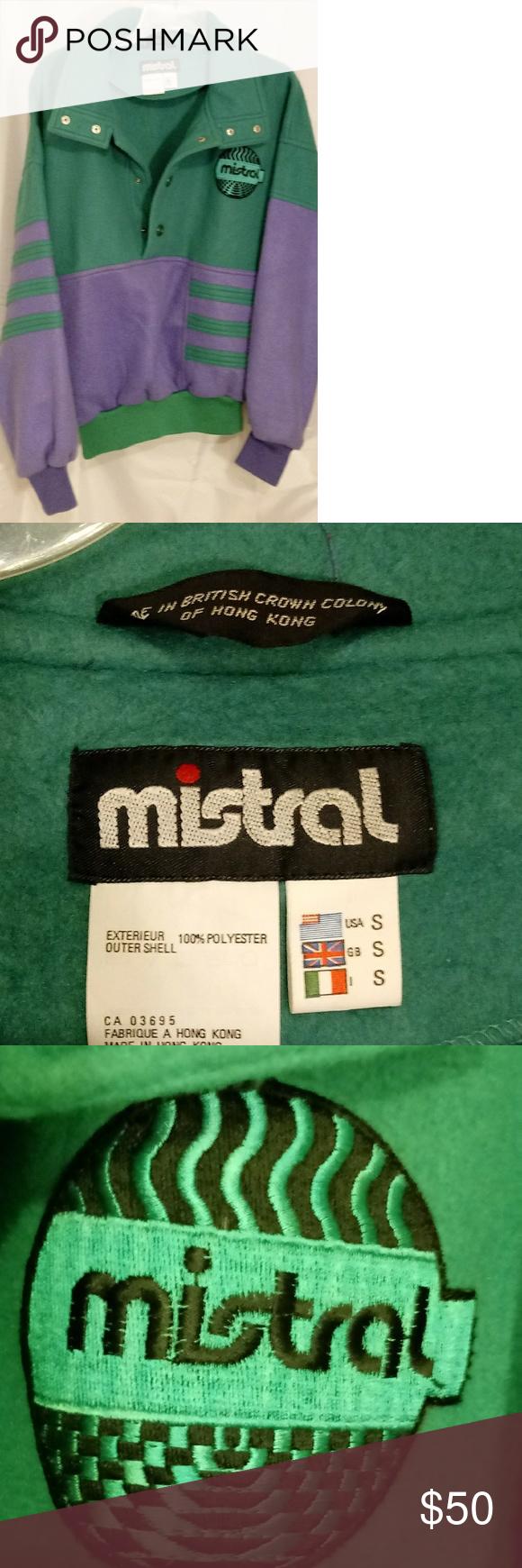 Mistral womens vintage s s fleece jacket small pinterest