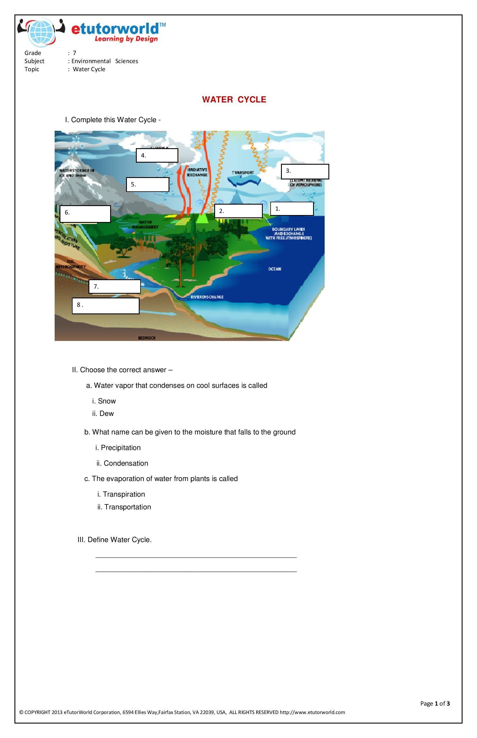 Pin By Etutorworld Inc On Grade 7 Science Worksheets