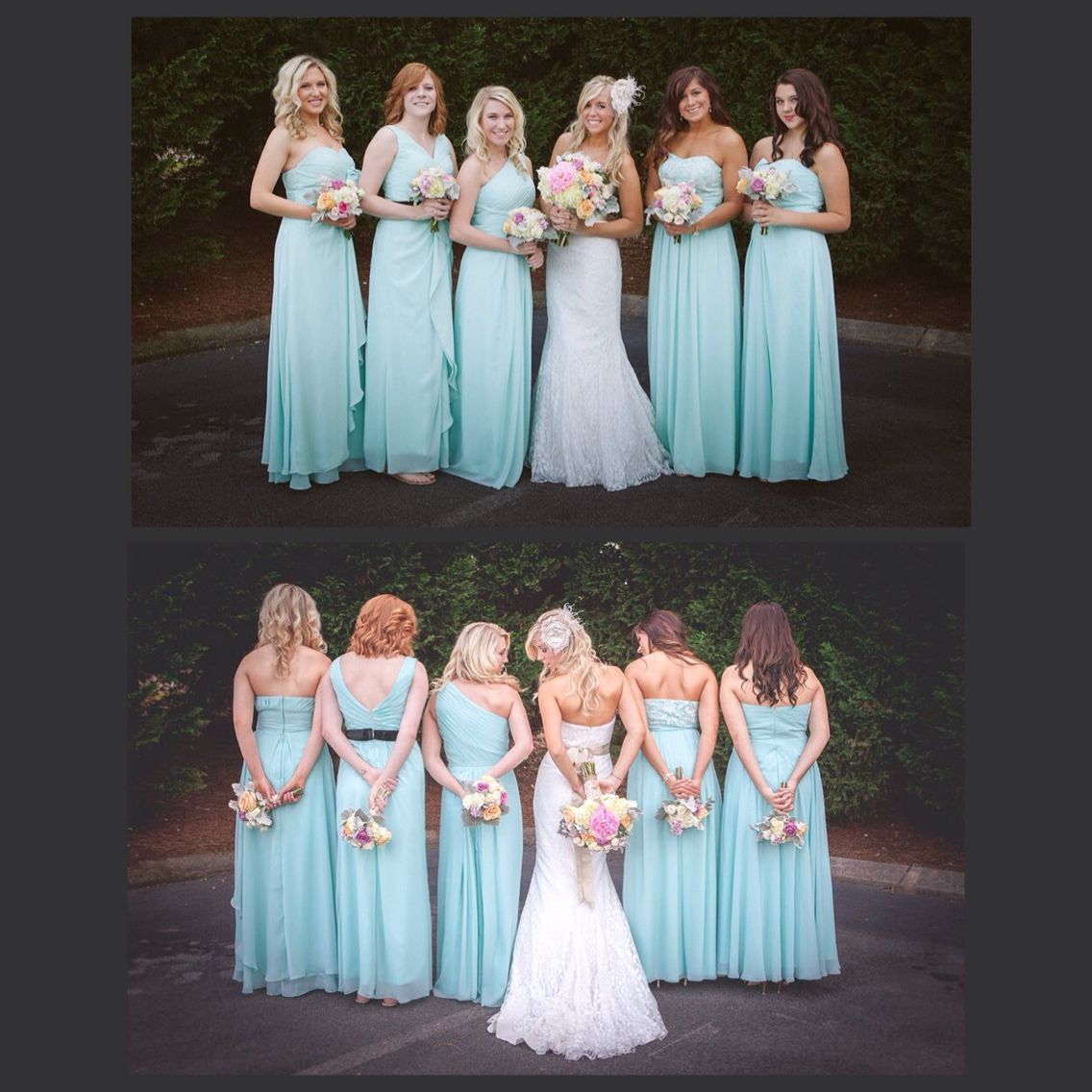 Love the different styles of bridesmaid dresses!! | Dream Wedding ...