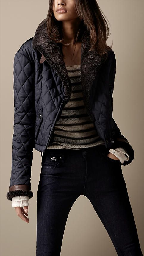 Burberry Brit Quilted Bomber Jacket Quilted Bomber Jacket Cute Outfits Fashion