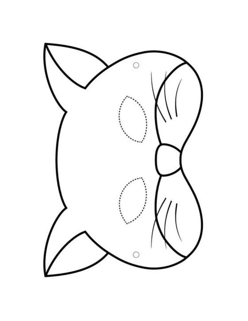 Maski Karnawalowe Koty Karnawal Maski Karnawalowe Swiatowy Dzien Kota Swiatowy Dzien Z Animal Masks For Kids Art Activities For Kids Printable Halloween Masks