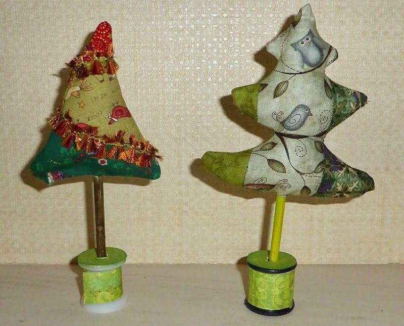 LinsArt: Fabric Christmas Trees